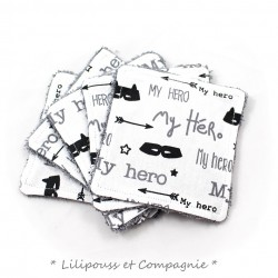 Lingettes Lavables – Lot de 5 « Collection MY HERO »